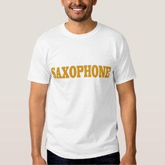 Camiseta divertida del saxofón playeras