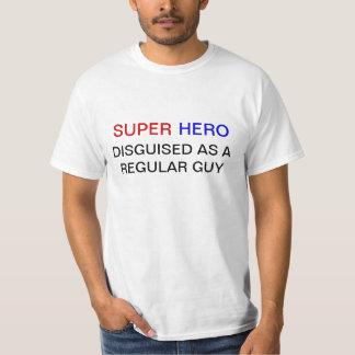 Camiseta divertida del super héroe poleras