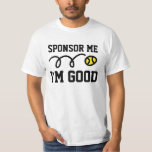Camiseta divertida del tenis para el patrocinador