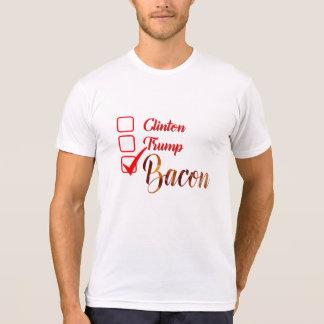 camiseta divertida del tocino del triunfo de