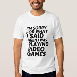 Camiseta divertida del videojugador y del friki remeras