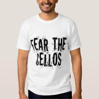 Camiseta divertida del violoncelo - modificada playera