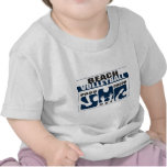 Camiseta divertida del voleibol de playa