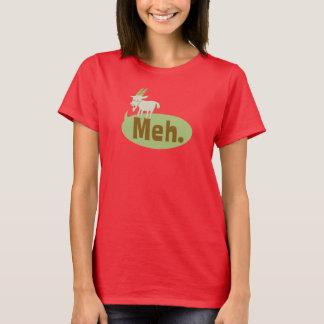 Camiseta divertida del Wordplay de Meh (dijo la