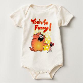 Camiseta divertida divertida del dibujo animado body de bebé