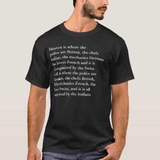 Camiseta divertida europea del cielo y del