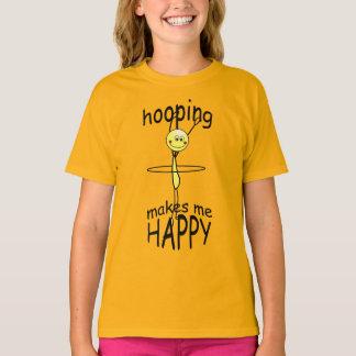 Camiseta divertida feliz de Hooping del aro de Playera