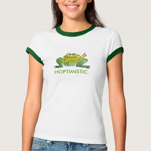 Camiseta divertida linda de las ranas del dibujo playeras