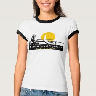 Camiseta divertida para el controlador aéreo 2 camisas