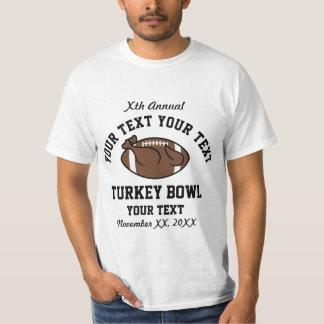 Camiseta divertida personalizada del cuenco anual playeras