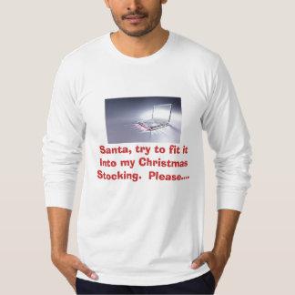 Camiseta divertida - Santa, intento para caberla