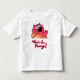 Camiseta divertida tonta del gato del dibujo remera