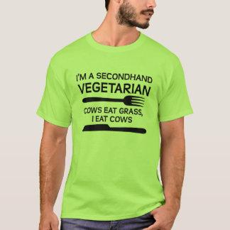 Camiseta divertida vegetariana de segunda mano