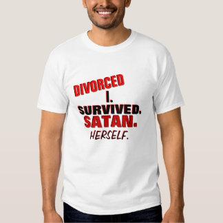 Camiseta divorciada divertida playeras