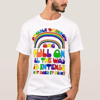 Camiseta doble del arco iris