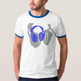 Camiseta doble del campanero del auricular playera