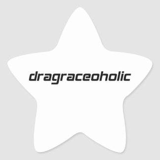 camiseta dragraceoholic por Gear4gearheads Pegatina En Forma De Estrella