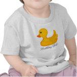 Camiseta Ducky de goma del cumpleaños