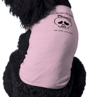 Camiseta dulce de Skullette - de Lickity; rosa Playera Sin Mangas Para Perro