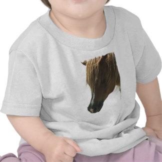 Camiseta dulce del bebé del caballo del mustango