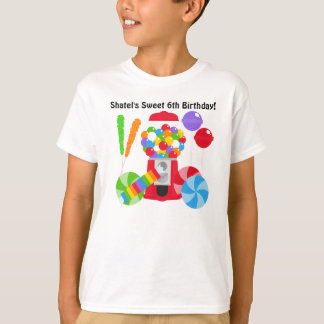 Camiseta dulce del personalizado del cumpleaños playera