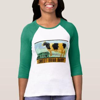 Camiseta dulce del raglán de la lechería del Briar Camisas