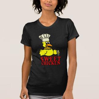 Camiseta dulce negra del Bbq del pollo