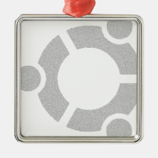 Camiseta dura de Ubuntu Linux Adorno Navideño Cuadrado De Metal