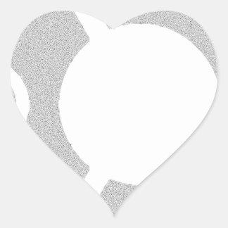 Camiseta dura de Ubuntu Linux Pegatina En Forma De Corazón