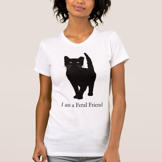 Camiseta eartipped negro del gato