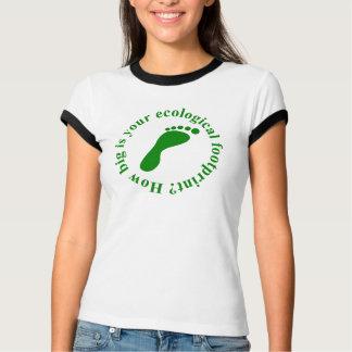 Camiseta ecológica de la huella