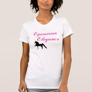 Camiseta ecuestre de las señoras de la elegancia