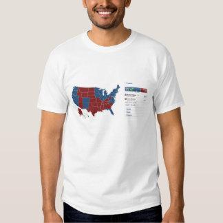 Camiseta electoral del mapa 2008 playeras