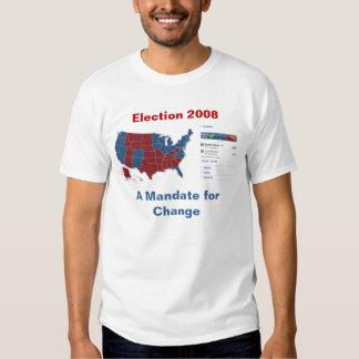 Camiseta electoral del mapa 2008: Un mandato para Playera