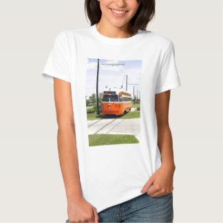 Camiseta eléctrica de la tranvía polera