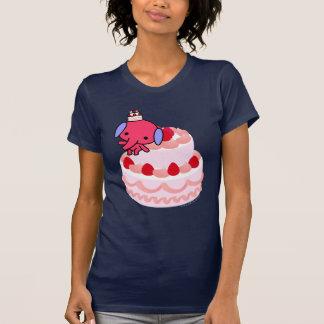 Camiseta - elefante de la torta - torta grande