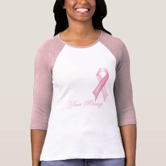 Camiseta elegante de la cinta del cáncer de pecho