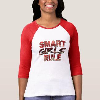 Camiseta elegante de la regla de los chicas playera