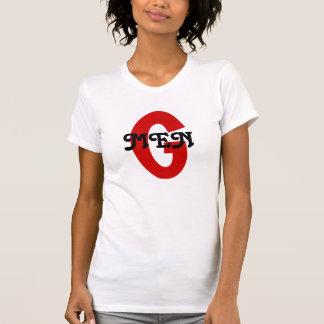 Camiseta elegante del DISEÑO de la MARCA ROJA de