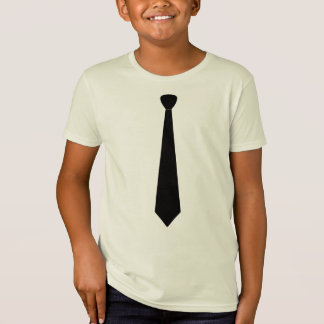 Camiseta elegante del lazo negro