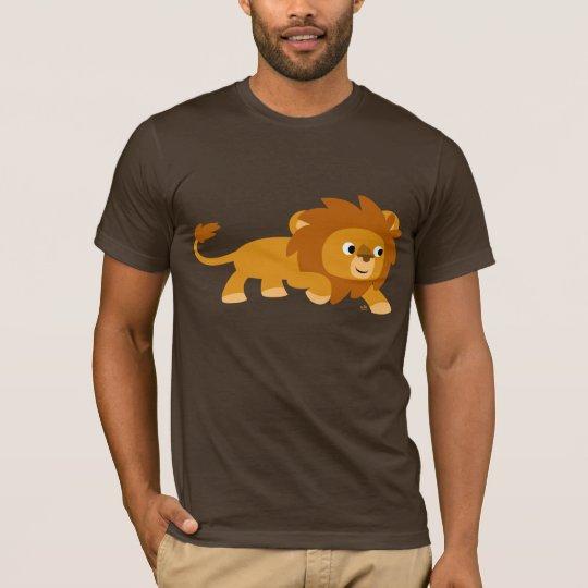 Camiseta elegante del león del dibujo animado
