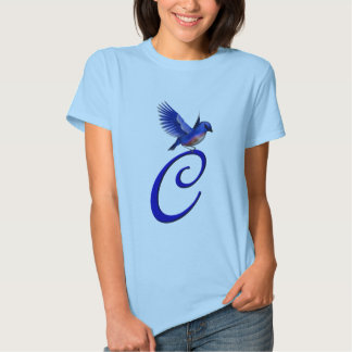 Camiseta elegante inicial del Bluebird del Playera