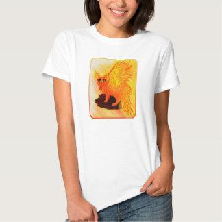 Camiseta elemental de la fantasía del arte del poleras