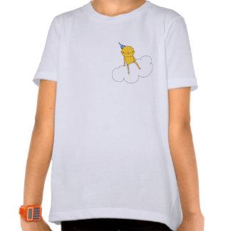 Camiseta elfin del niño de la nube