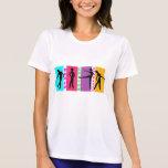 Camiseta em microfibra feminina Dança louvor e... Poleras