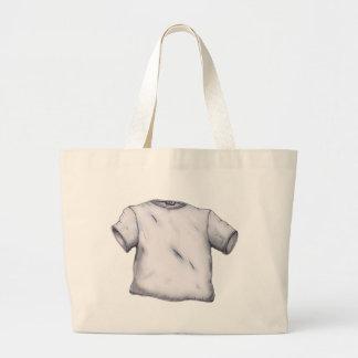 Camiseta en blanco bolsas