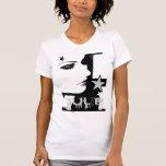Camiseta en blanco negro de n
