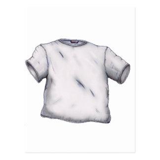 Camiseta en blanco postal