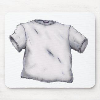 Camiseta en blanco tapetes de ratones