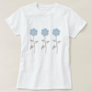 Camiseta en colores pastel azul y beige de la flor remera